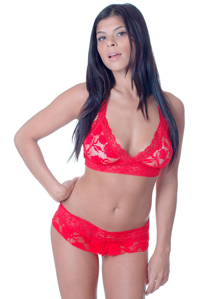 1d558cd6d9 Women s Stretch Lace Bralette and Thong Set  1087 – shirleymccoycouture