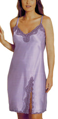 Women's Charmeuse Chemise with Lace #19558