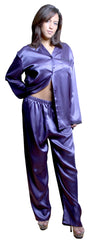 Women's Classic Charmeuse Long Pajama Set #2005