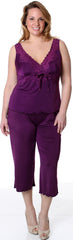 Women's Plus Size Microfiber and Lace Camisole Pajama Set #2050X