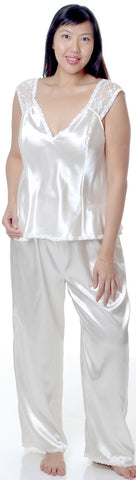 Women's Plus Size Charmeuse Camisole Pajama Set #2078X