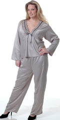 Women's Plus Size Matte Satin Pajama Set #2082X