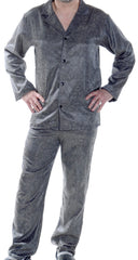 Men's Classic Satin Jacquard Long Pajama Set #2093A (S-3X)