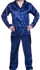 Men's Classic Charmeuse Long Pajama Set #2093 (S-3X)