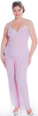Women's Plus Size Georgette Camisole Pajama Set #2104X
