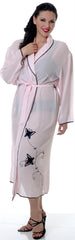 Women's Plus Size Georgette Long Wrap Robe  #3008X