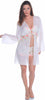 Women's Georgette Front Tie Short Robe #3029