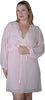 Women's Plus Size Crinkle chiffon Short Robe  #3051X