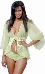 Women's Chiffon Fitted Short Robe #3058