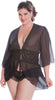Women's Plus Size Chiffon Fitted Short Robe #3058X