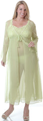 Women's Plus Size Chiffon Fitted Long Robe #3059X