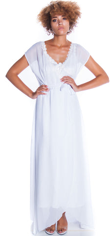 Women's Bridal Chiffon Long Wrap Robe #3109/X