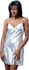 Women's Silky Chemise with Lace #4035