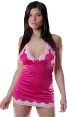 Women's Plus Size Poly/Spandex Chemise with Lace #4037x (1x-3x)