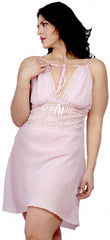 Women's Plus Size Georgette Chemise with Lace #4053x (1x-3x)