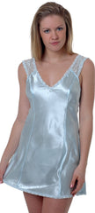 Women's Plus Size Silky Chemise with Lace #4070x (1x-3x)