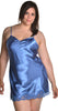 Women's Plus Size Silky Chemise or Slip with Lace #4077X (1x-6x)
