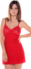 Women's  Metallic Ruffled Chemise #4094