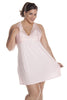 Women's Plus Size Supersoft Jersey and Lace Built Up Chemise #4120X