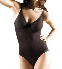 Body Wrap Iridescent Control Bodysuit #51001, Black, Medium