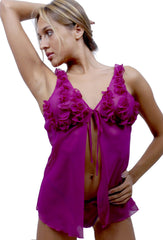 Women's Chiffon Babydoll with G-string #5034