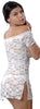 Women's Stretch Lace Babydoll/Mini Dress with Thong #5095