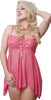 Women's Mesh Babydoll with G-String #5174