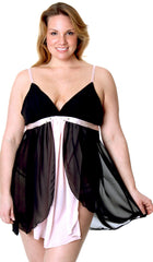 Women's Plus Size Chiffon Babydoll with G-string #5207x (1x-6x)
