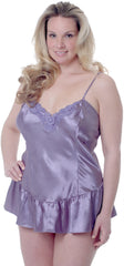 Women's Plus size Charmeuse Babydoll with G-string #5231x (1x-3x)