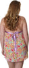 Women's Plus Size Printed Chiffon Babydoll with G-String #5235/x (1x-3x)