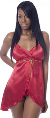Women's Charmeuse Babydoll with G-String #5247