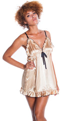 Women's Charmeuse Babydoll with G-String #5289