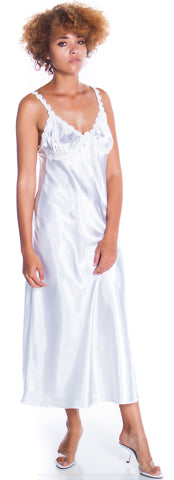 Women's Silky Nightgown With Venice Lace #6010