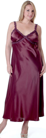 Women's Super Plus Size Silky Nightgown With Venice Lace #6010XX