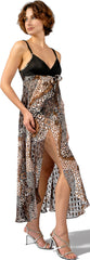 Women's Animal Metallic Jacquard Chiffon Nightgown and Panty Set #6037