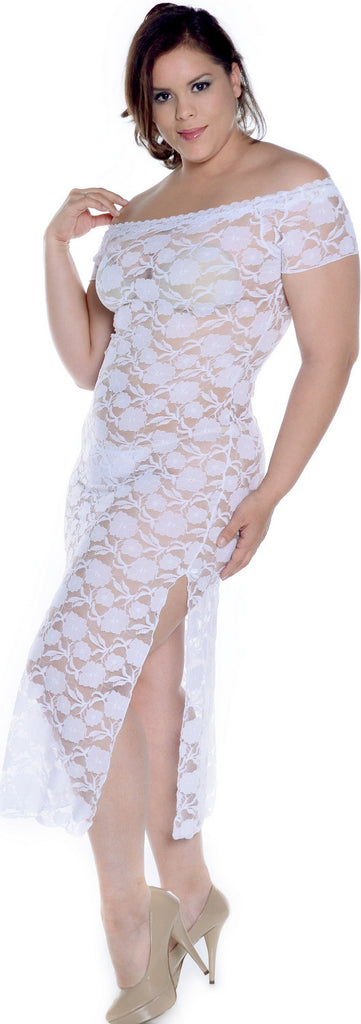 Plus Size Stretch Lace Nightgown