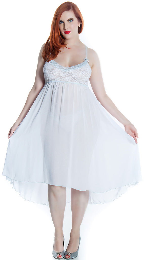 0be8e460ff5 Women s Plus Size Bridal Chiffon Nightgown With G-String Set  6101X –  shirleymccoycouture