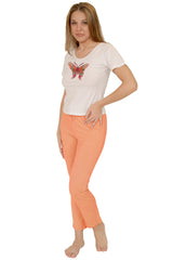 Women's Cotton Short Sleeves Pajama Set #622J