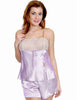Women's Charmeuse Camisole Tap Pant Set #698B
