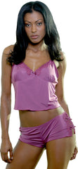 Women's Plus Size Poly/spandex Camisole Short Set #7050x