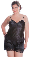 Women's Plus Size Charmeuse Camisole Tap Pant Set #7078x