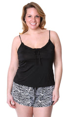 Women's Plus Size Slinky Knit Camisole Pajama Short Set #7079X