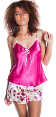 Women's Charmeuse Camisole Tap Short Set #7103