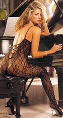Shirley of Hollywood Lace Body Stocking 90027, Black, OS