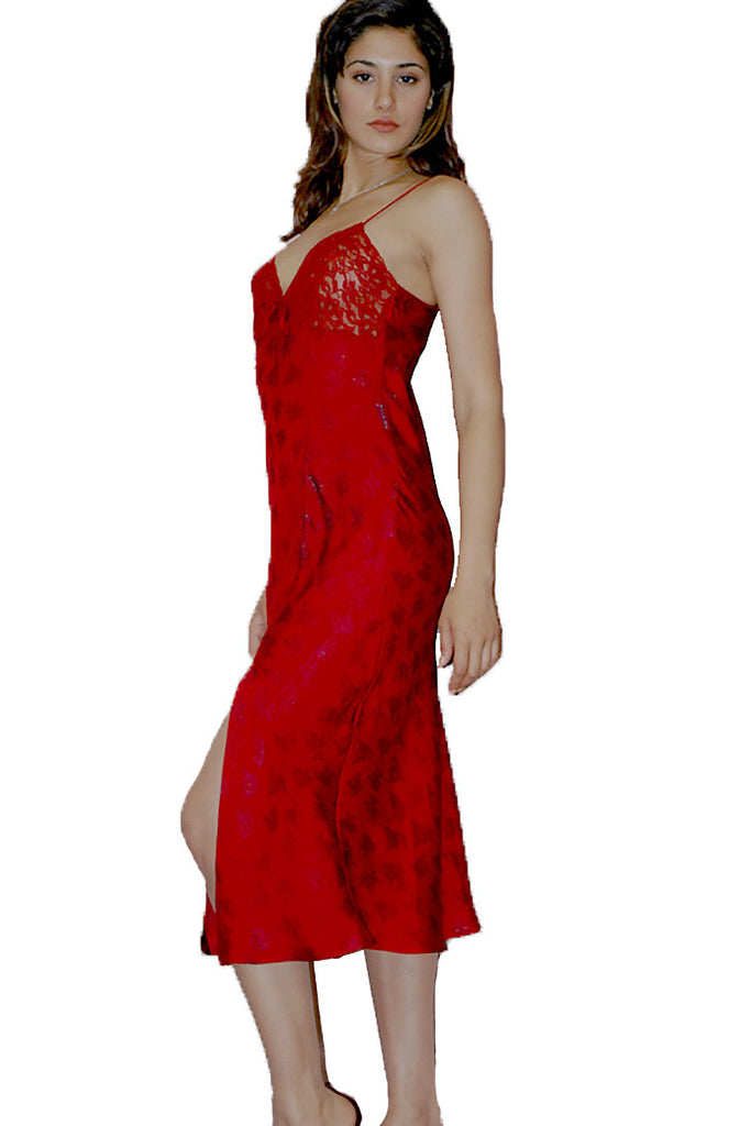 Women\'s Iridescent Jacquard Gown with Lace #761f – shirleymccoycouture