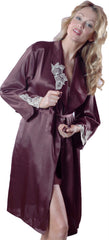 Women's Charmeuse Short Robe #9009
