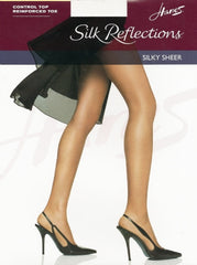 Hanes Silk Reflections Sheer Toe Control Top Pantyhose 717