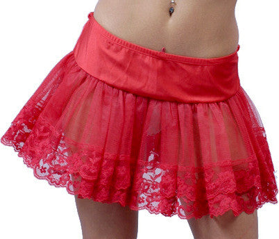 Women's Petticoat with Lace #Q01