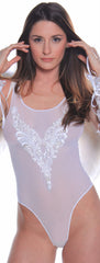 Women's Bridal Mesh Teddy # B313A