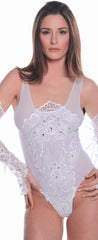 Women's Bridal Mesh Teddy # B314A